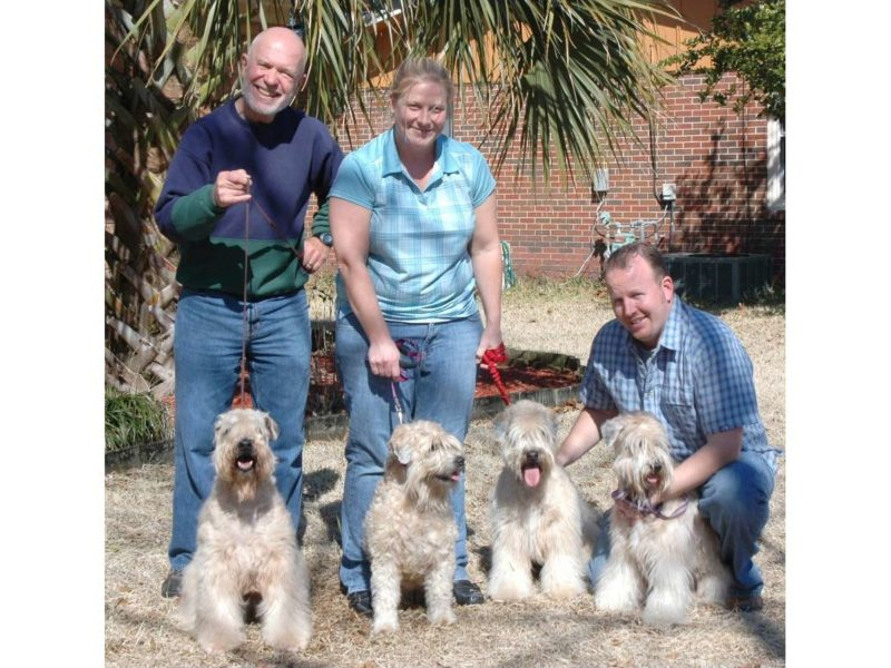 Freddie and Joyce with their puppies Betti and Ceiylee - 2010